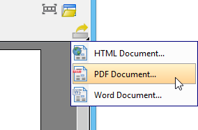 Export PDF document