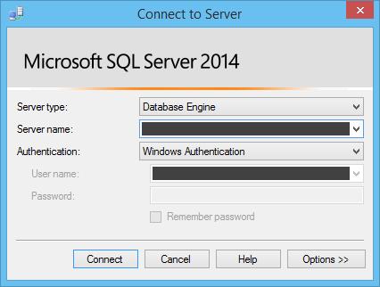 Login MS SQL server