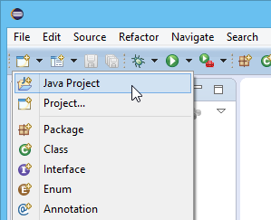 New Java project in Eclipse