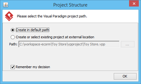 Enter project path