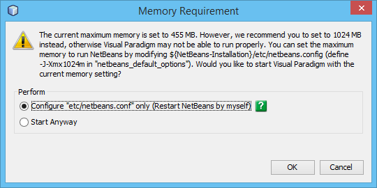 Adjust memory settings