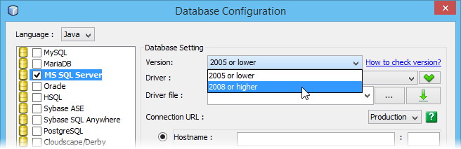 Select MS SQL Server version