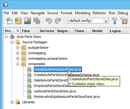 Opening code sample