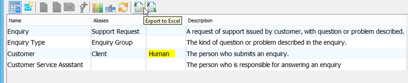 Export to excel