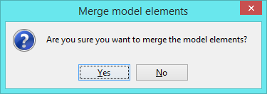confirm to proceed with the merge