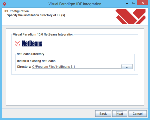3 specify netbeans location