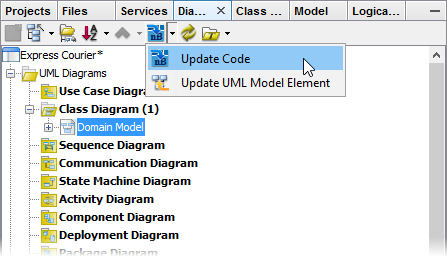 Update code from UML