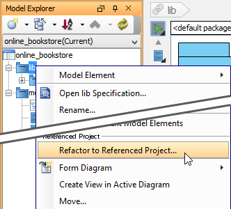 Refactor to referenced project