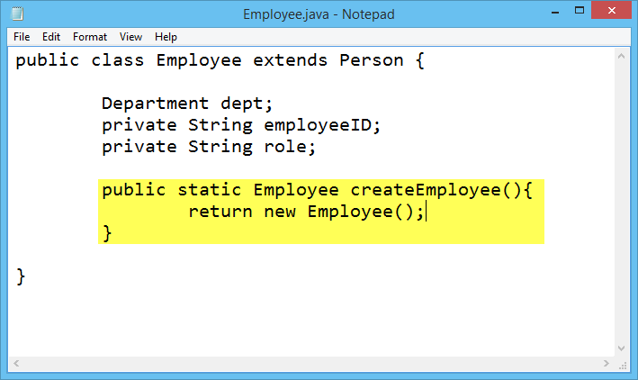editing java file