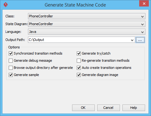 generate state machine code