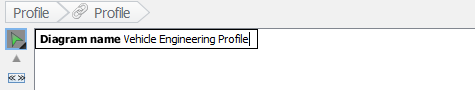 Entering profile name