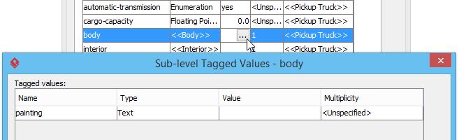 Sub-level tagged values