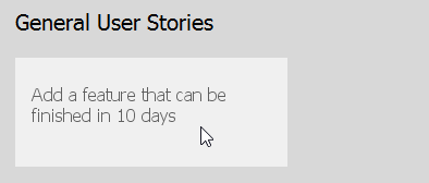 To create a user story