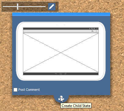 create child wireframe state