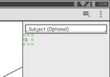 created label wireframe widget