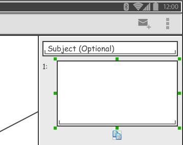 created text field wireframe widget