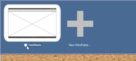 re-use existing wireframe