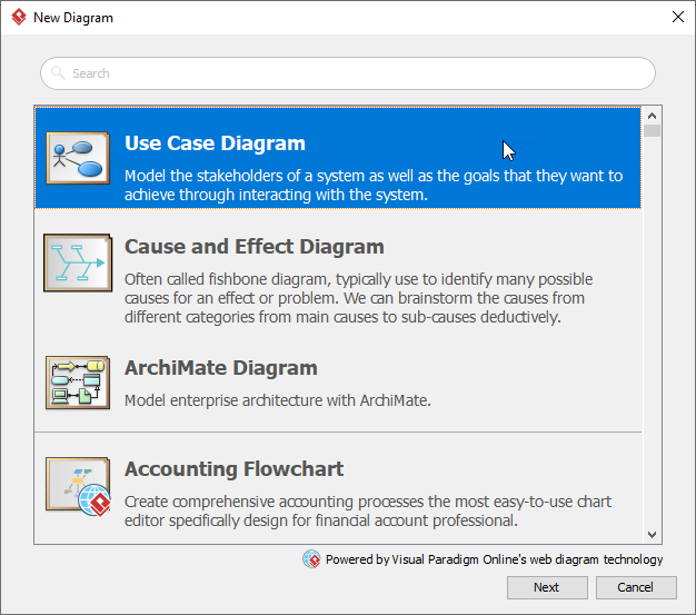 Create use case diagram