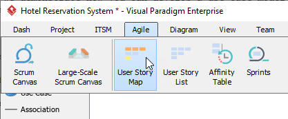 Open user story map
