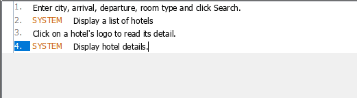 User story scenario done