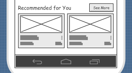 wireframe elements resized