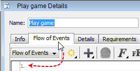 flow of event tab
