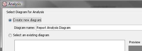 analysis dialog