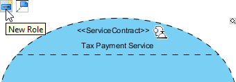 create role in service contract