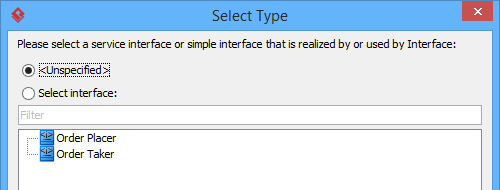 select order type
