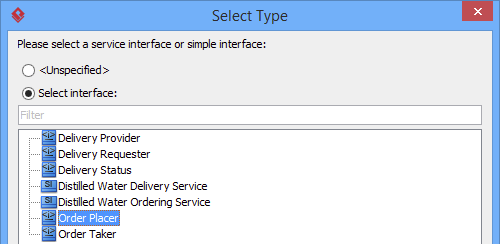 select order placer