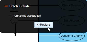 restore deleted association