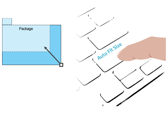 Auto fit shape size with shortcut key