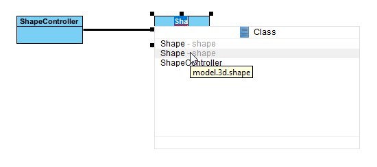Shows package structure in name completion